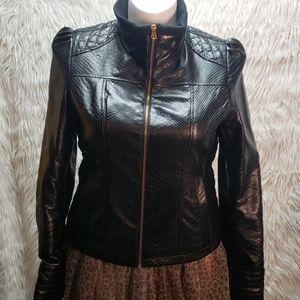 Triple Star SUPER CUTE faux Leather Jacket SZL